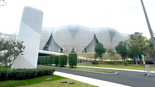 杭州奥体中心无机布防火卷帘门案例1